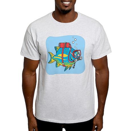Scuba Light Blue Fish Light T-Shirt