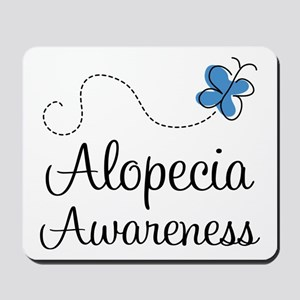 Alopecia Awareness blue butterfly Mousepad