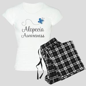 Alopecia Awareness blue butterfly Pajamas