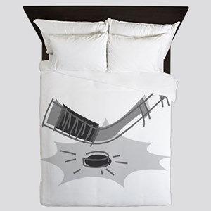 ice hockey Queen Duvet