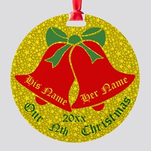 Our Nth X'mas Personalize It Round Ornament