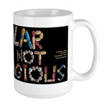 Bipolar Is NOT Contagious black Mugs