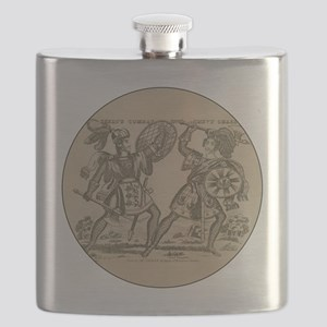 Medieval Knights Swords and Armor Flask
