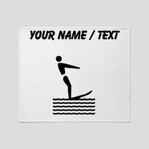 Custom Water Skiing Throw Blanket