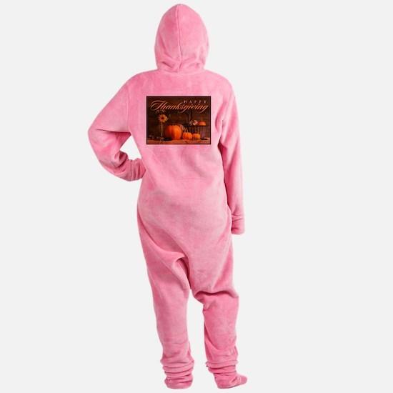 Funny Thanksgiving Footed Pajamas
