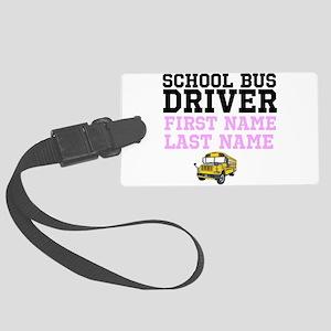 School Bus Driver Luggage Tag