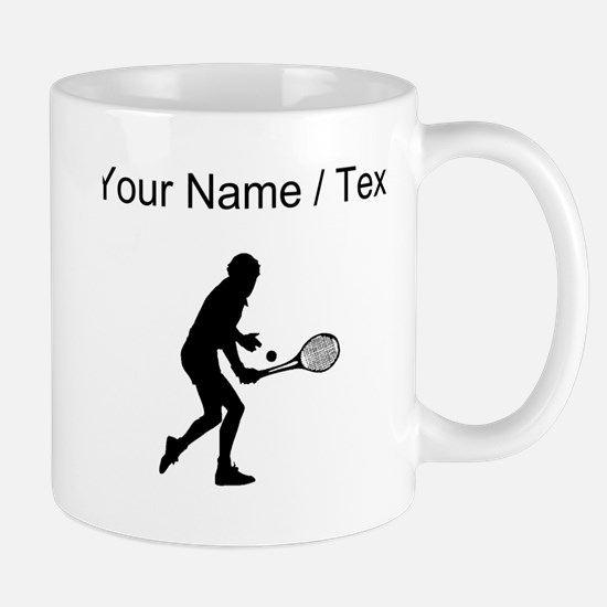 Custom Tennis Player Silhouette Mugs