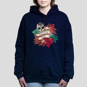 Daddy's Girl Sugar Skull Women's Hooded Sweatshirt