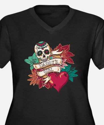 Daddy's Girl Sugar Skull Plus Size T-Shirt