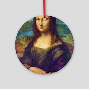 Da Vinci: Mona Lisa Ornament (Round)