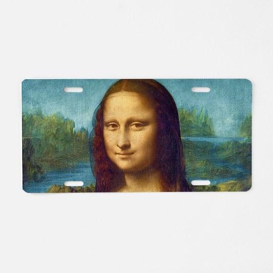Da Vinci: Mona Lisa Aluminum License Plate