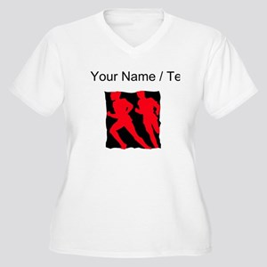 Custom Runners Plus Size T-Shirt
