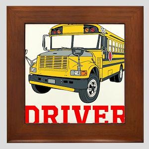School Bus Driver Framed Tile
