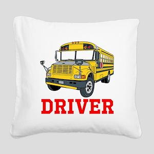 School Bus Driver Square Canvas Pillow