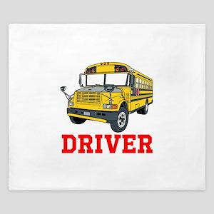 School Bus Driver King Duvet