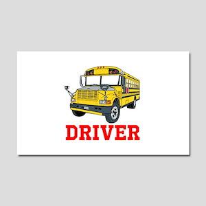 School Bus Driver Car Magnet 20 x 12