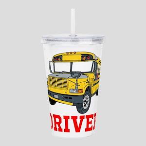 School Bus Driver Acrylic Double-wall Tumbler