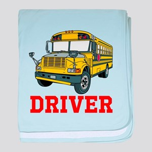 School Bus Driver baby blanket