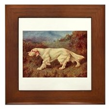 English Setter Watercolor Framed Tile