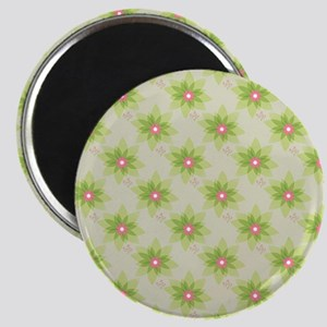 Pink and Green Floral Magnets