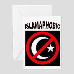 ISLAMAPHOBE Greeting Cards