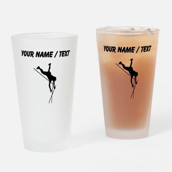 Custom Pole Vaulter Silhouette Drinking Glass