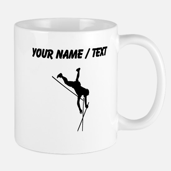 Custom Pole Vaulter Silhouette Mugs