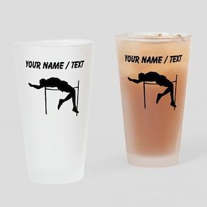 Custom High Jump Silhouette Drinking Glass