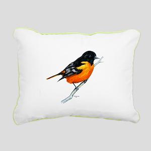 Baltimore Oriole Rectangular Canvas Pillow