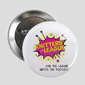 "Knitters' League 2.25"" Button"