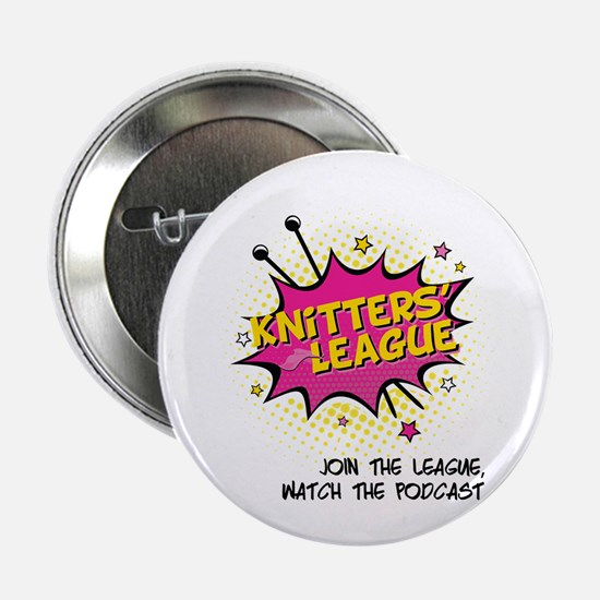 "Knitters' League 2.25"" Button"