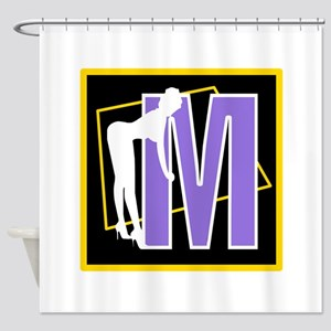 Naughty Initial Design (M) Shower Curtain