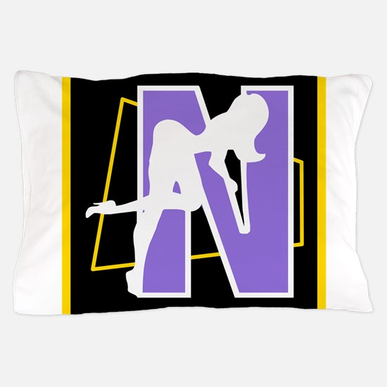 Naughty Initial Design (N) Pillow Case
