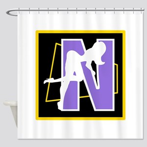 Naughty Initial Design (N) Shower Curtain
