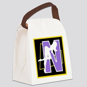 Naughty Initial Design (N) Canvas Lunch Bag