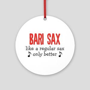 Bari Sax Ornament (Round)