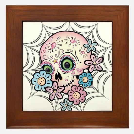 Sweet Sugar Skull Framed Tile
