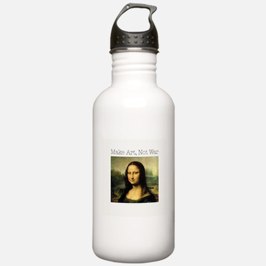 MakeArtNotWar1.jpg Water Bottle