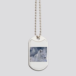white spirit wolf Dog Tags