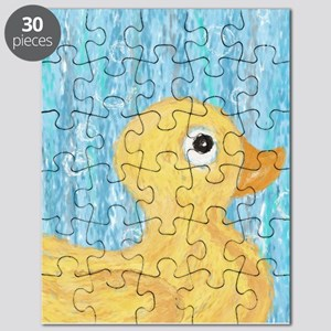 Big Rubber Duck on Blue Puzzle