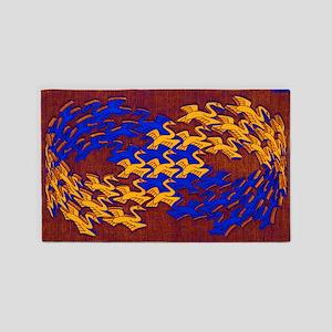 Mobius Swans 3'x5' Area Rug