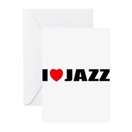 I Love Jazz Greeting Cards (Pk of 10)