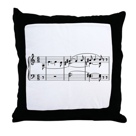 Tristan Chord Throw Pillow by operabayreuth