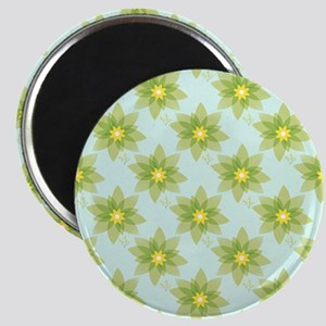 Yellow Flowers On Blue Magnets