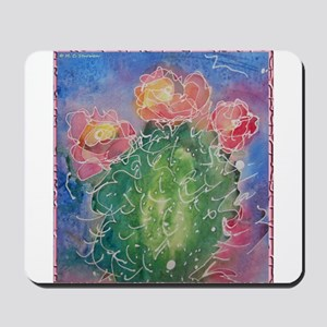 pink cactus blossoms, southwest art Mousepad