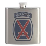 10th mountain division Flask Bottles
