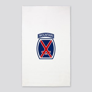 10th Mountain Division 3'x5' Area Rug