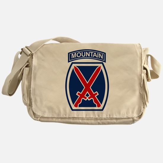 10th Mountain Division.psd.png Messenger Bag