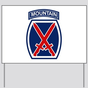 10th Mountain Division.psd.png Yard Sign