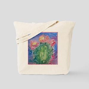 pink cactus blossoms, southwest art Tote Bag